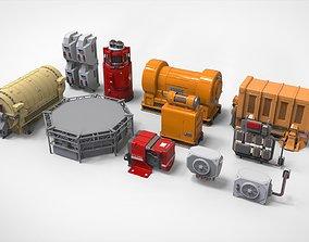 sci fi props3 vents 3D model