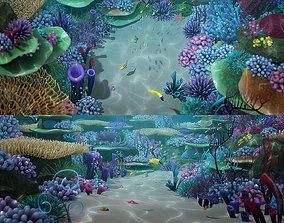3D Cartoon Underwater Scene