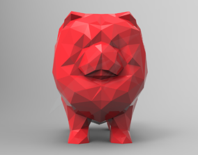3D printable model Low Poly Chow Chow STL for