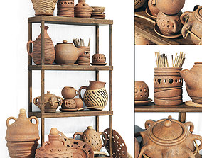 3D Dishes clay rack n8