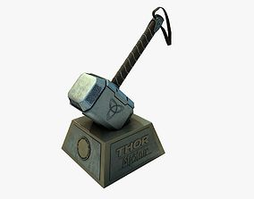 Thor Hammer Mjolnir with out textures 3D print model