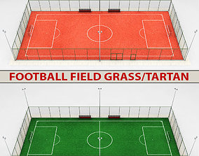 3D Football soccer stadium field