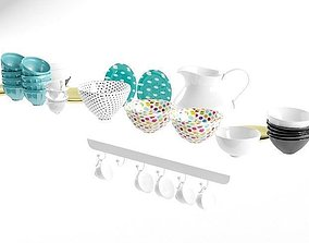 3D model mug and bowl
