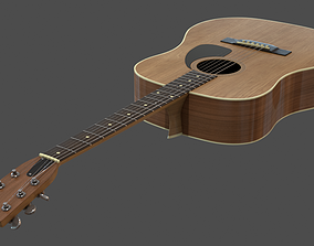 musical 3D model Acoustic Guitar