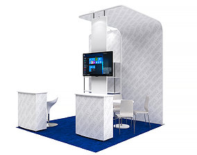 Exhibition booth 10x10ft 3DM004