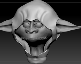 nonanimated Goblin head 3D model