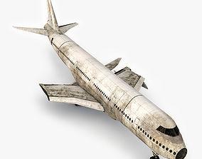 3D asset VR / AR ready Damage Airplane 2