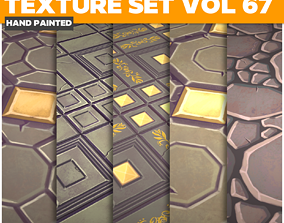 3D asset Tiles Vol 67 - Game PBR Textures