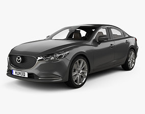 3D model Mazda 6 sedan with HQ interior 2018