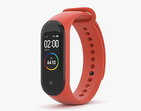 Xiaomi Mi Band 4 Hot Orange 3D