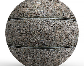 Horizontal Seamless Texture of Large Stone Wall 3D