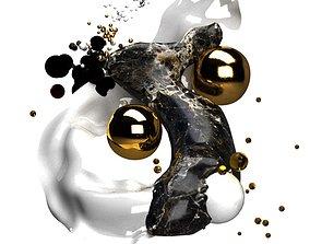 3D big bang abstract