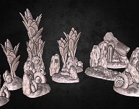 Nature Environment Tabletop Scenery Full 3D print model 1