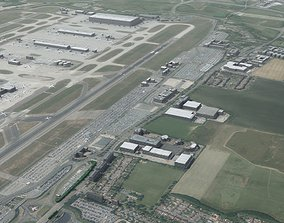 Heathrow Airport London UK 3D