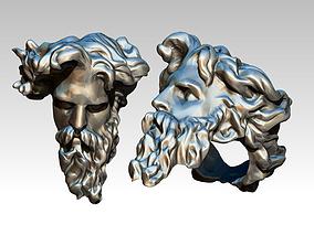 3D printable model Poseidon Ring Greek God Detailed 3