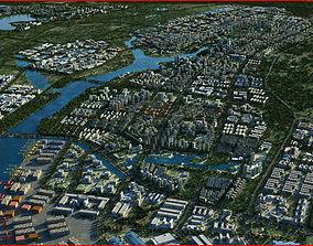 3D Modern City Animated 054