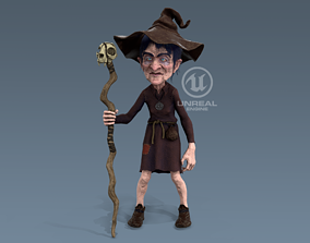 3D asset Witch Game Ready
