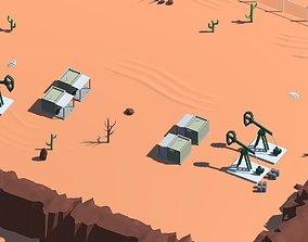 Low Poly Desert Environment for Unity 3D model