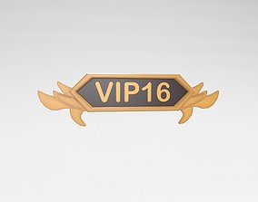 3D asset Game VIP Symbol v4 002