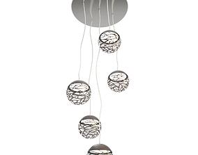 Kelly Cluster Pendant Lamp 3D model