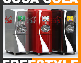 3D model Coca Cola Freestyle Jet Fountain of the Future 1