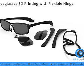Eyeglasses 3D Printing with Flexible Hinge