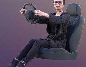 3D asset Bao 10566 - Driving Casual Woman