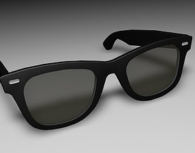 animated goggles 3d Rayban Style black sunglasses