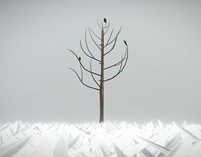 3D asset Small Pear Tree Winter 2 Meter
