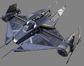 3D sci-fi Space Fighter