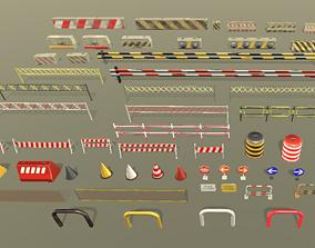 Roadblocks Pack 3D model