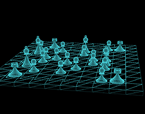 Chess Board Game 3D