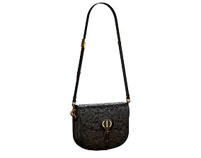 Dior Bobby Bag Medium Black Hand-Embossed 3D asset