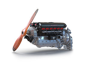 3D model This Piston Aero Engine Rolls Royce Merlin 2