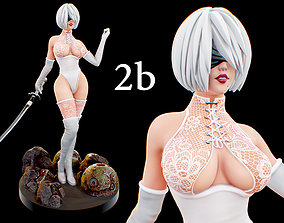 3D print model 2B - Nier Fanart human