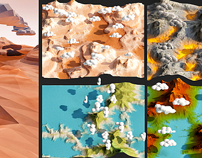 low-poly landscape pack low poly 3d model