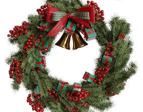 3D model Christmas wreath 1