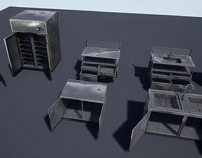 3D asset Retail Kitchen Cabinets