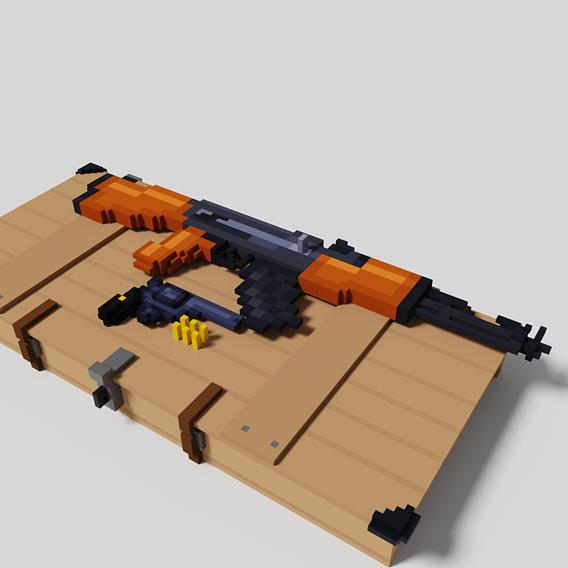 AK-47 with revolver