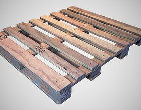 Warehouse Wooden Pallet - Game ready prop 3D asset