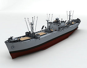 Liberty Ship Cargo Vessel 3D model