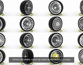 3D model ORTAS CAR WHEEL RIM 87-88 GAME READY WHEEL