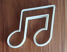 Double Note Cookie Cutter 3D print model
