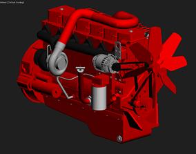 3D asset B 5 9L Cummins Turbo Diesel Engine