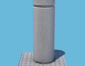 Concrete Bollard-3D Scan