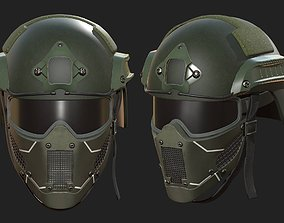Helmet military mask protection futuristic 3D model