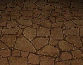 3D ground stone grass tile 21