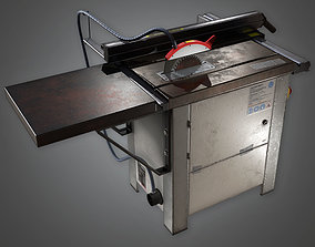 3D model Table Saw TLS - PBR Game Ready