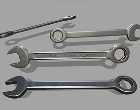 wrench 3D asset game-ready