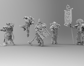 3D printable model Knights of Roma - Command Squad